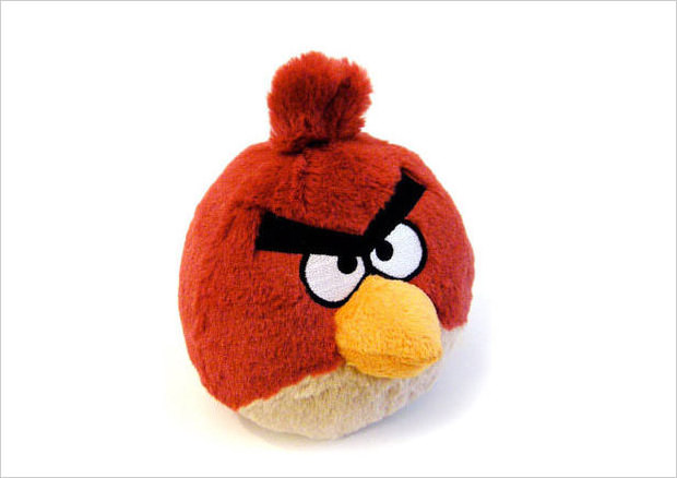 plush red bird