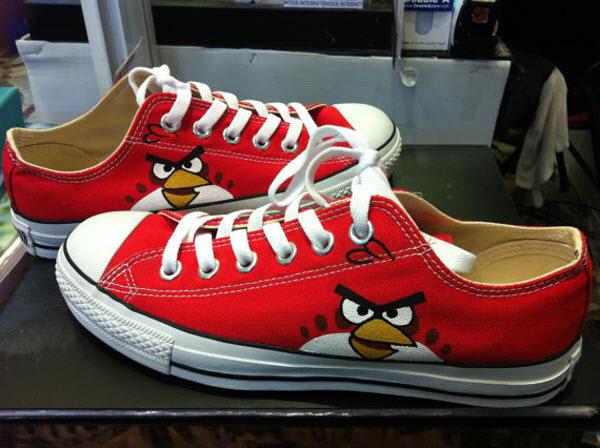 red bird converse