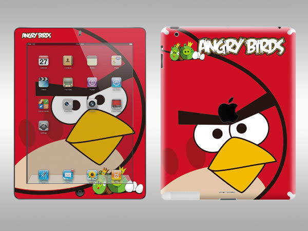 red bird ipad skin