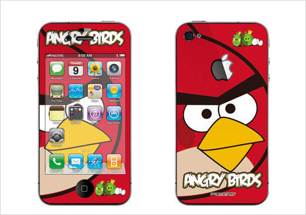 red bird iphone skin