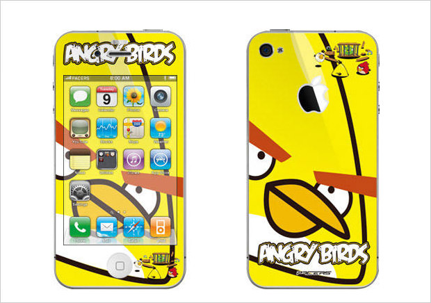 yellow bird iphone skin