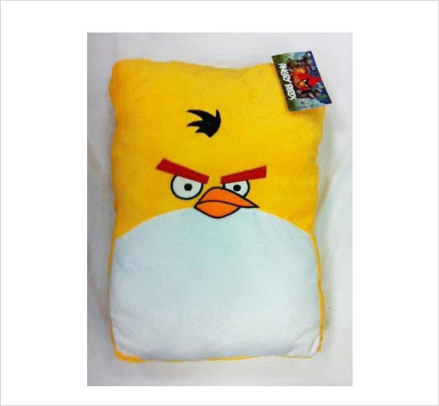 yellow bird plush pillow