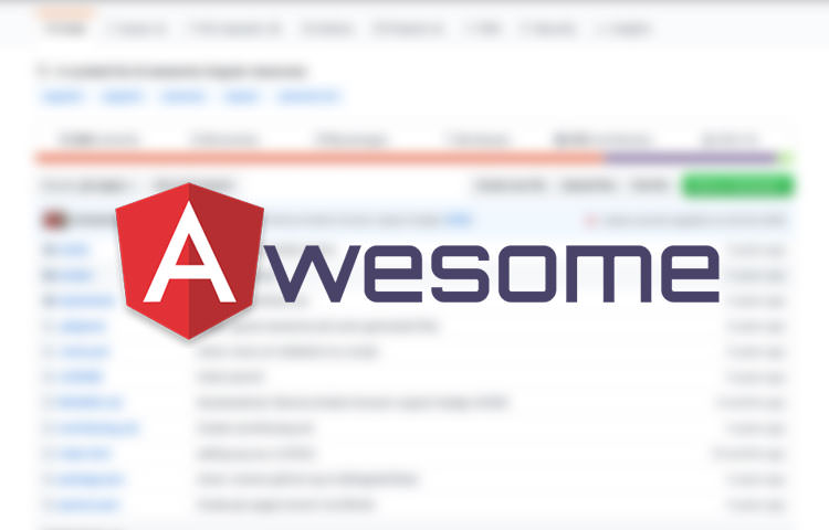 Awesome Angular logo