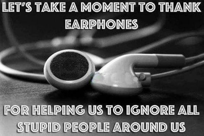 thanking earphones