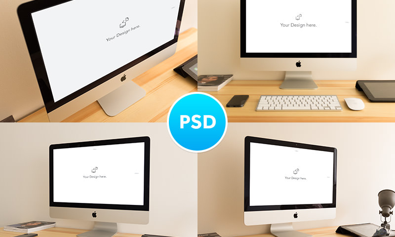 four imac devices psd