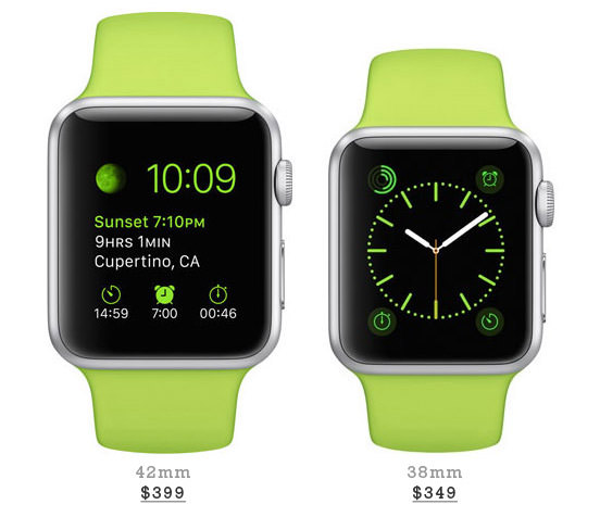 Silver Aluminum Case With Green Sport Band