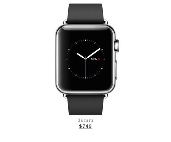 Stainless Steel Case With Black Modern Buckle