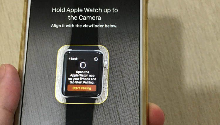 align apple watch with apple watch app
