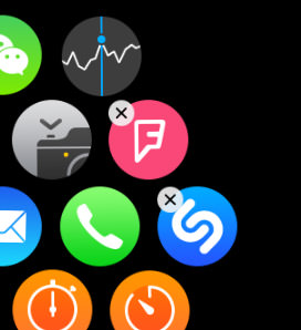 removing app via apple watch