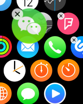 reposition app via apple watch