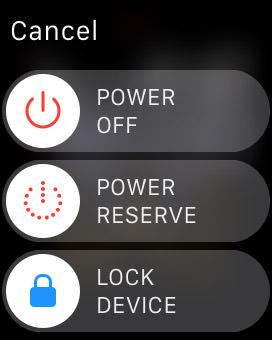 turn off apple watch