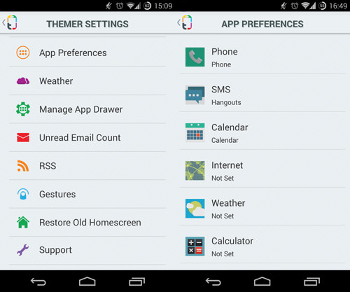 Themer Settings And App Preferences