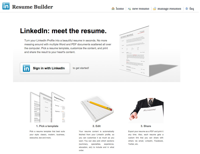 Resume Builder  Find Resumes On Linkedin