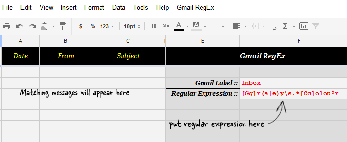Advance Search using Regex