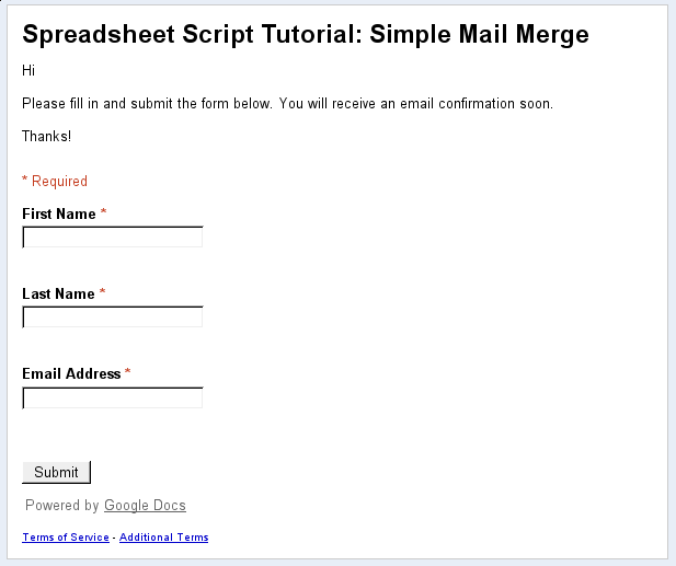 Simple Mail Merge