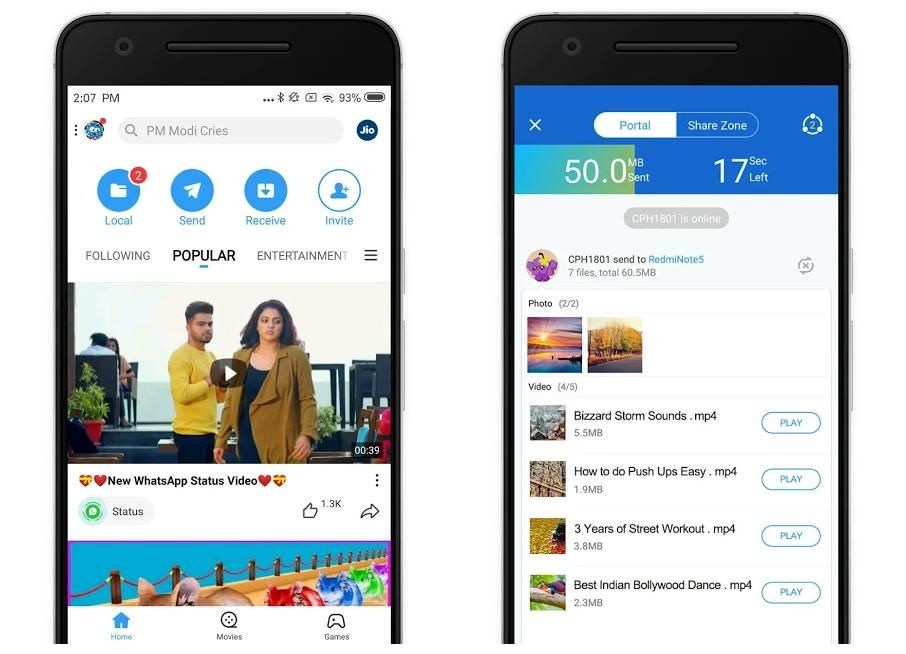 SHAREit for sharing files faster on Android