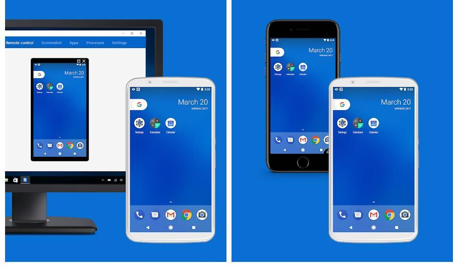 TeamViewer Host helps mirror Android