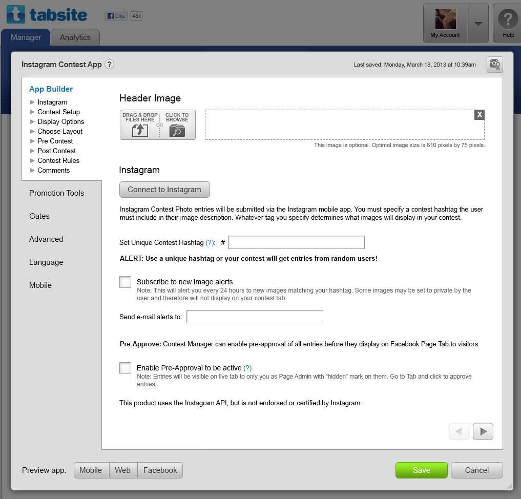 TabSite for Facebook Pages