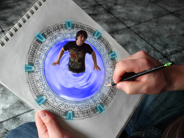 stargate drawing comes to life