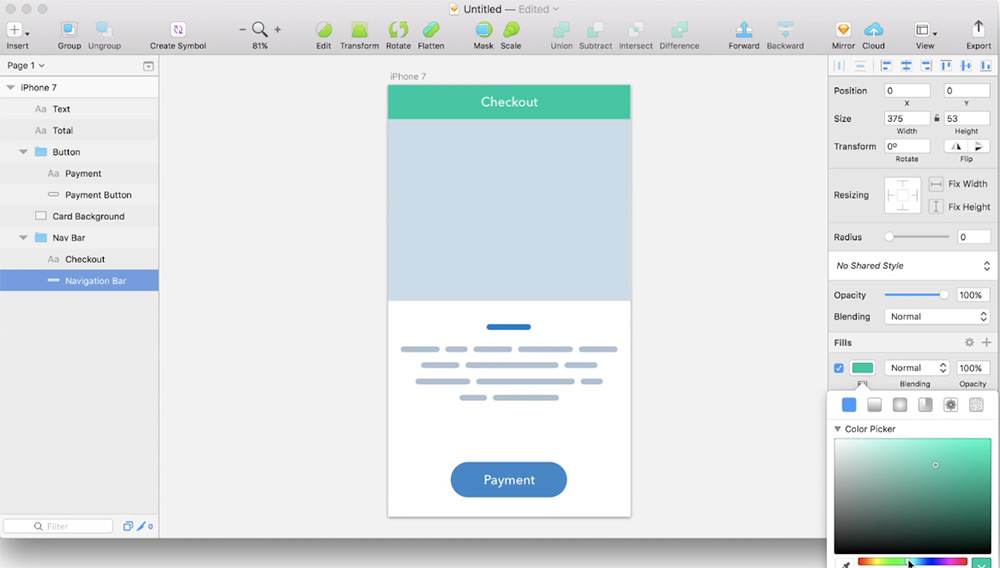 Chain addon for sketchapp