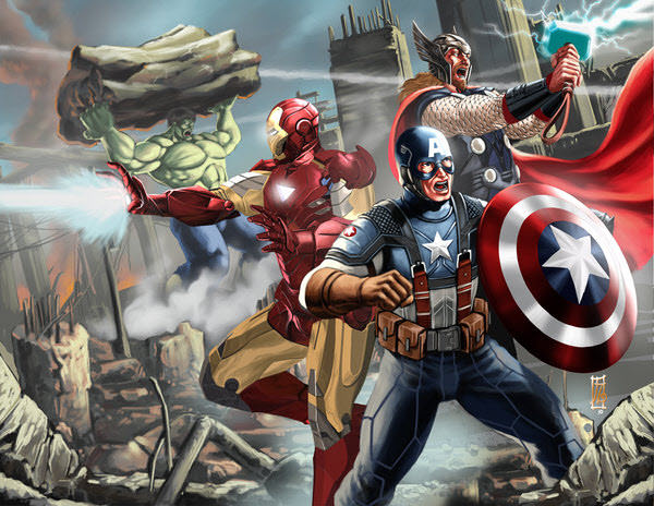 avengers fighting