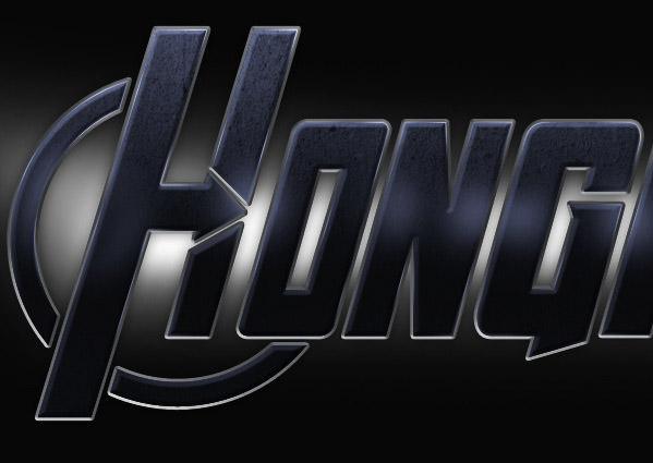 avengers logo in photoshop