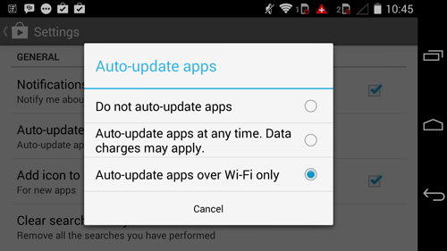 Android Auto-update apps