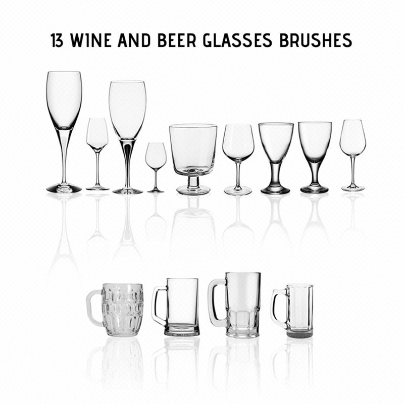 Wine Glasses and Beer Mugs