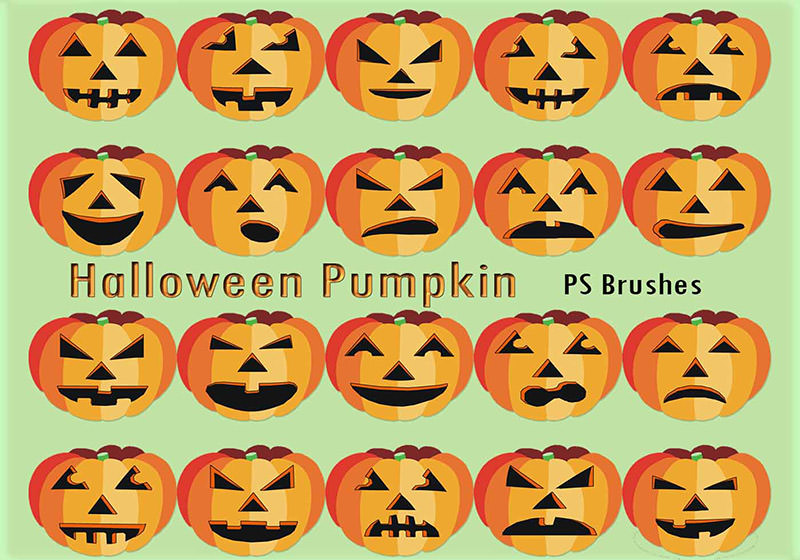 Halloween Pumpkin PS Brushes