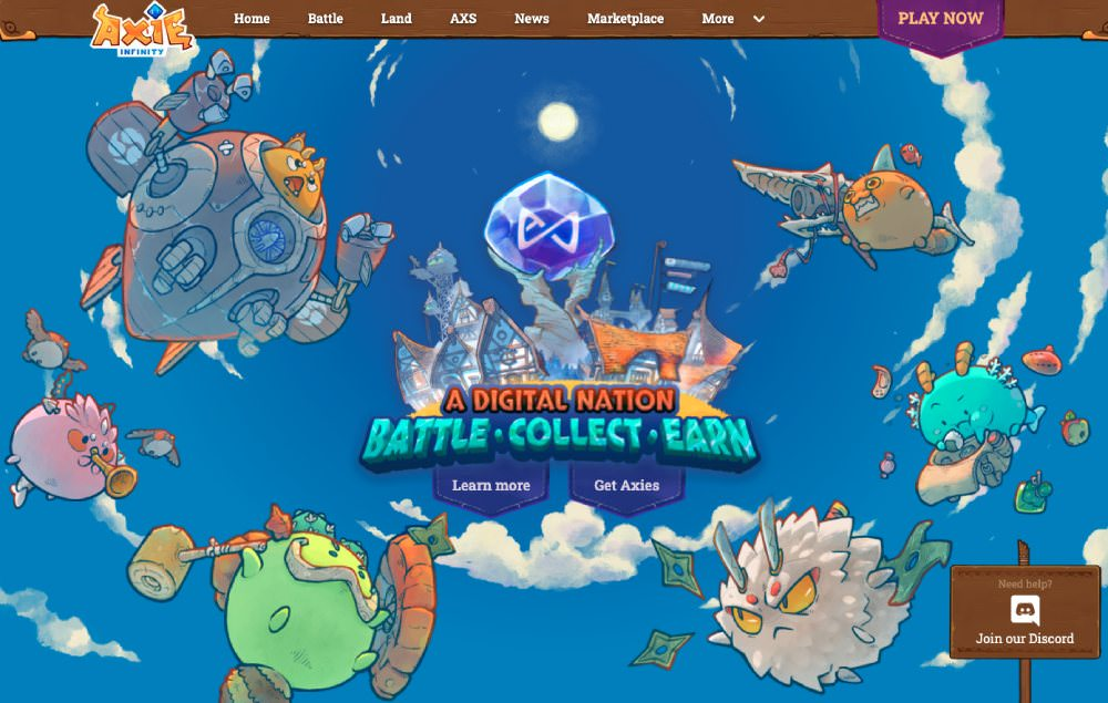 What is Axie Infinity, a play to earn NFT game
