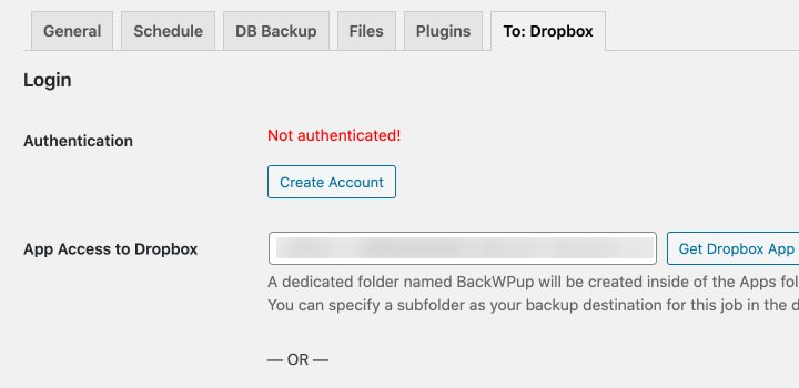 dropbox authentication code
