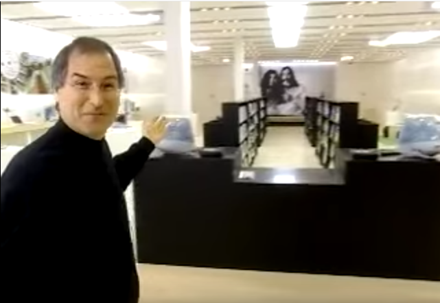 Jobs Introduces First Apple Store