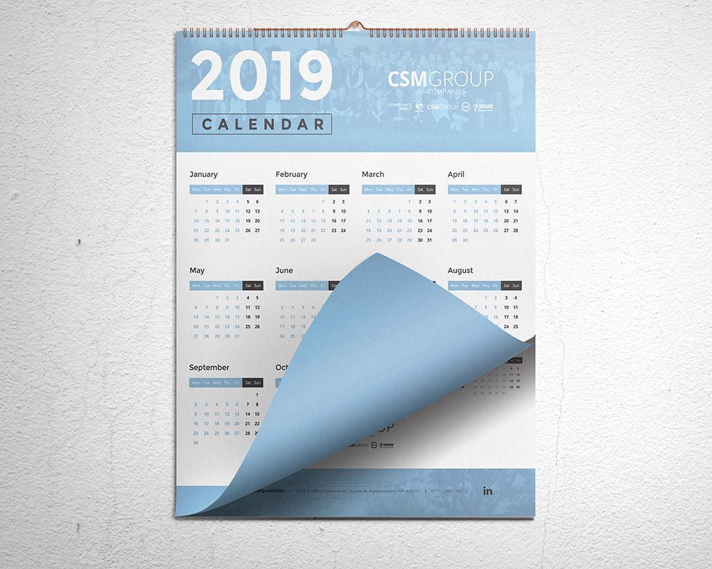 2019 2020 2021 Calendar Design
