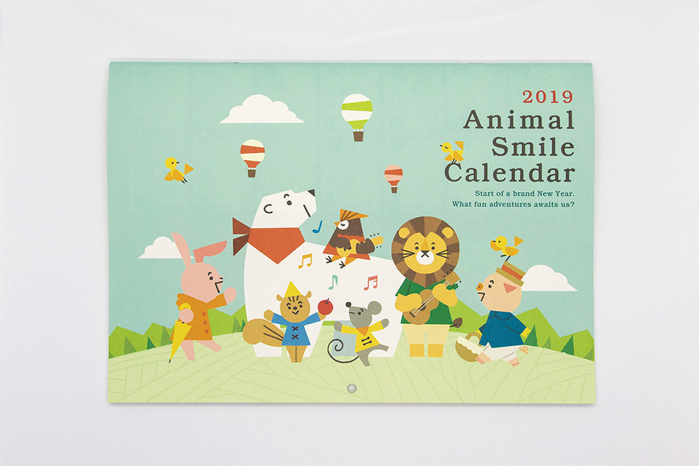 2019 Animal Smile Calendar