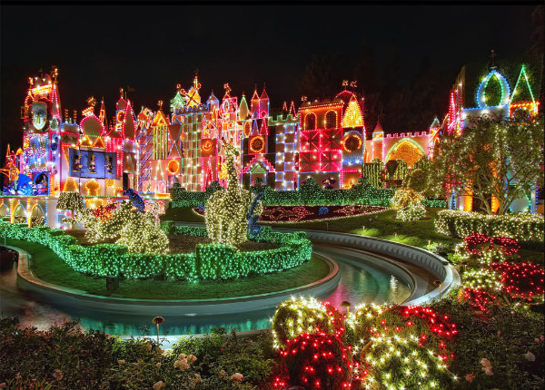 Colorful Disneyland Outdoor Christmas