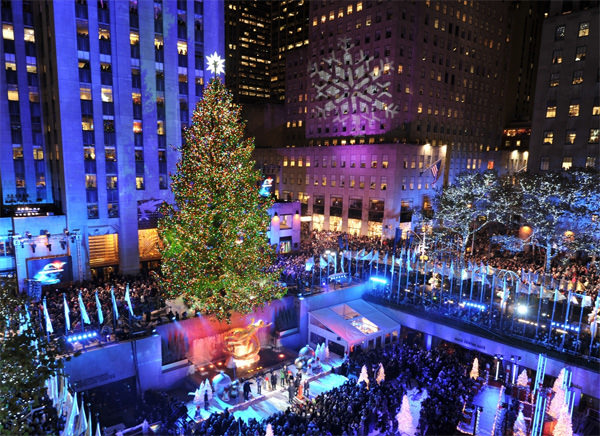 Rockefeller Center Christmas Tree Light