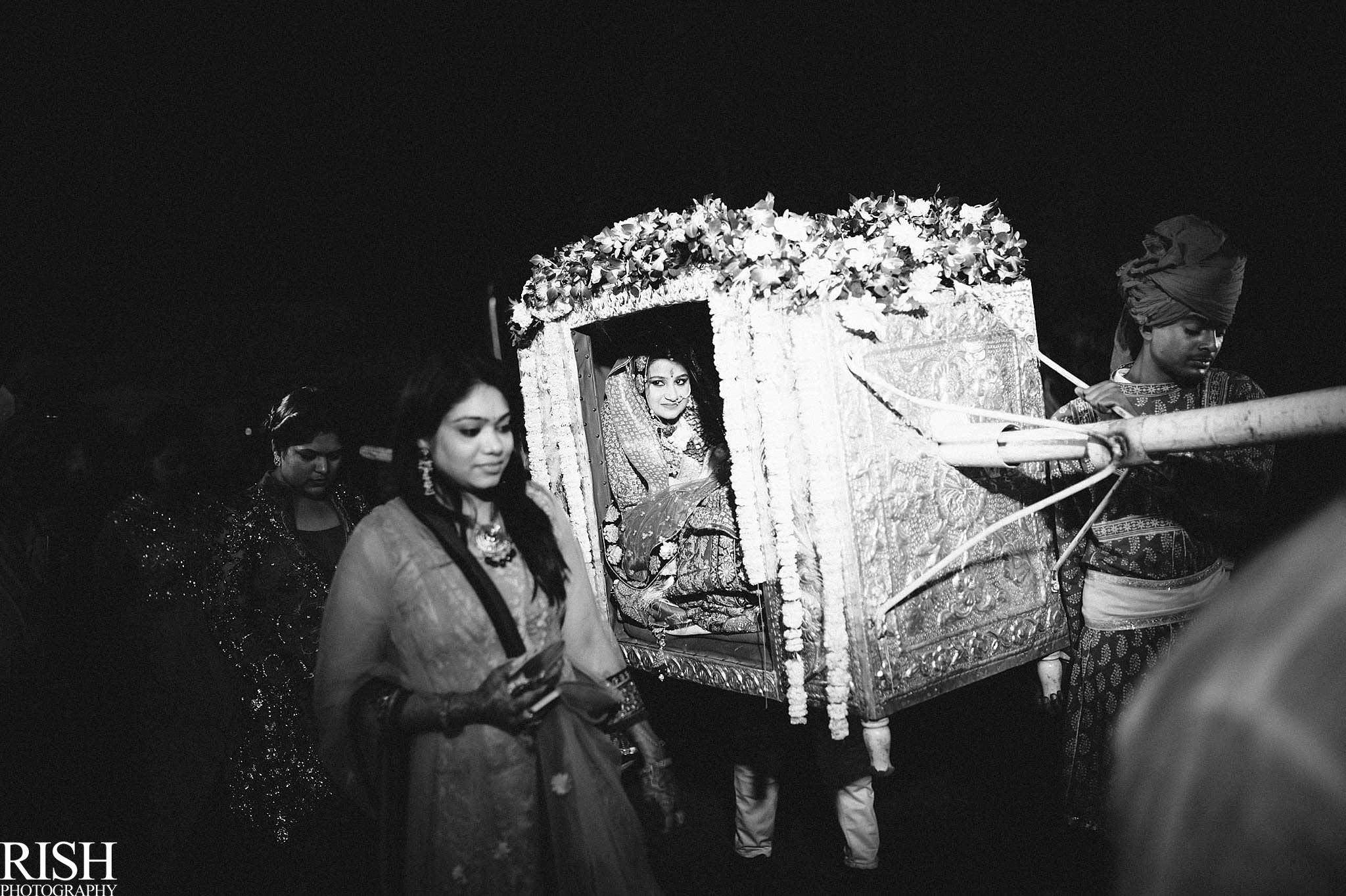 A bride in a palki