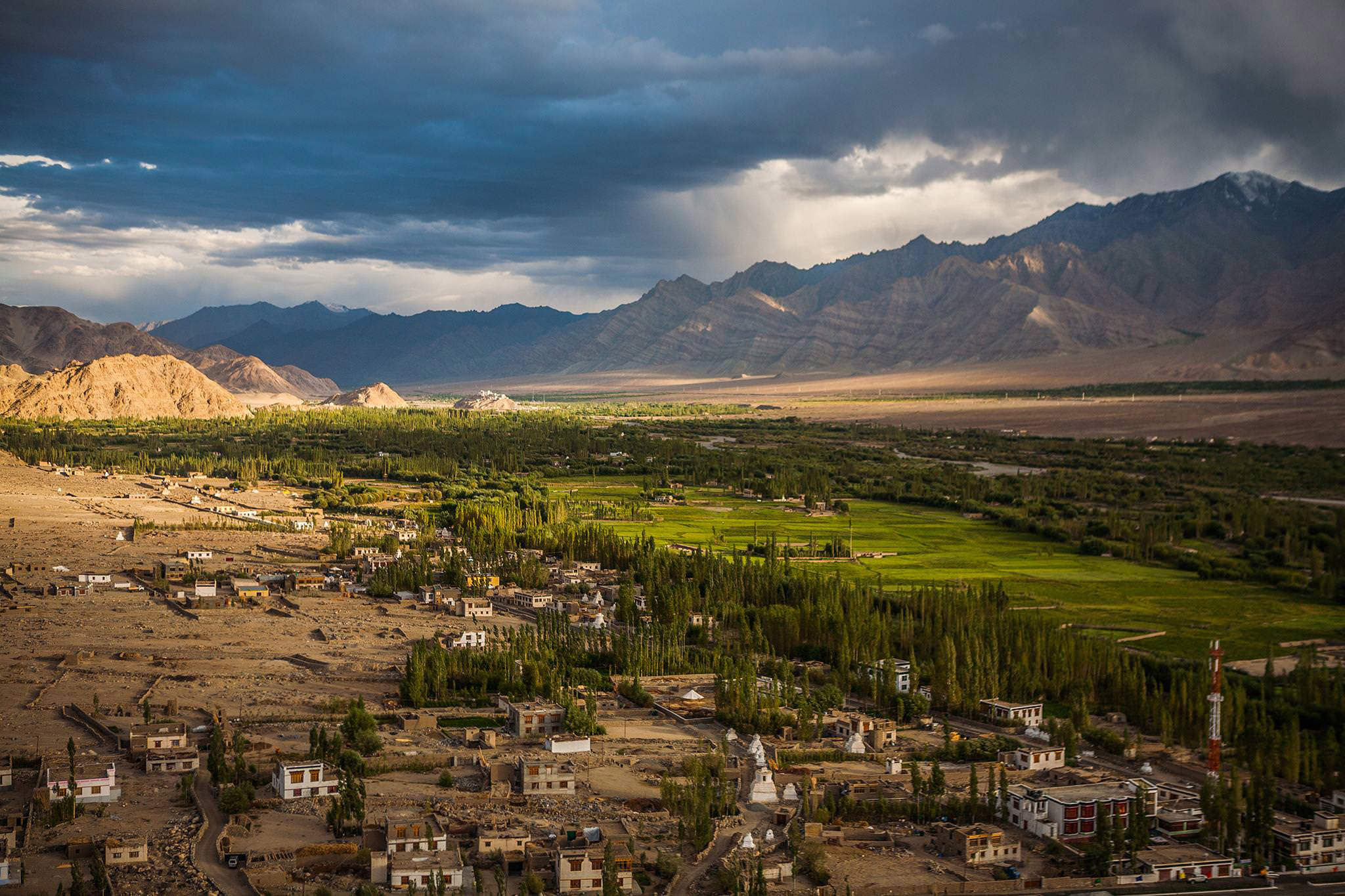 Aerial view from Thiksey Monastery (Leh)