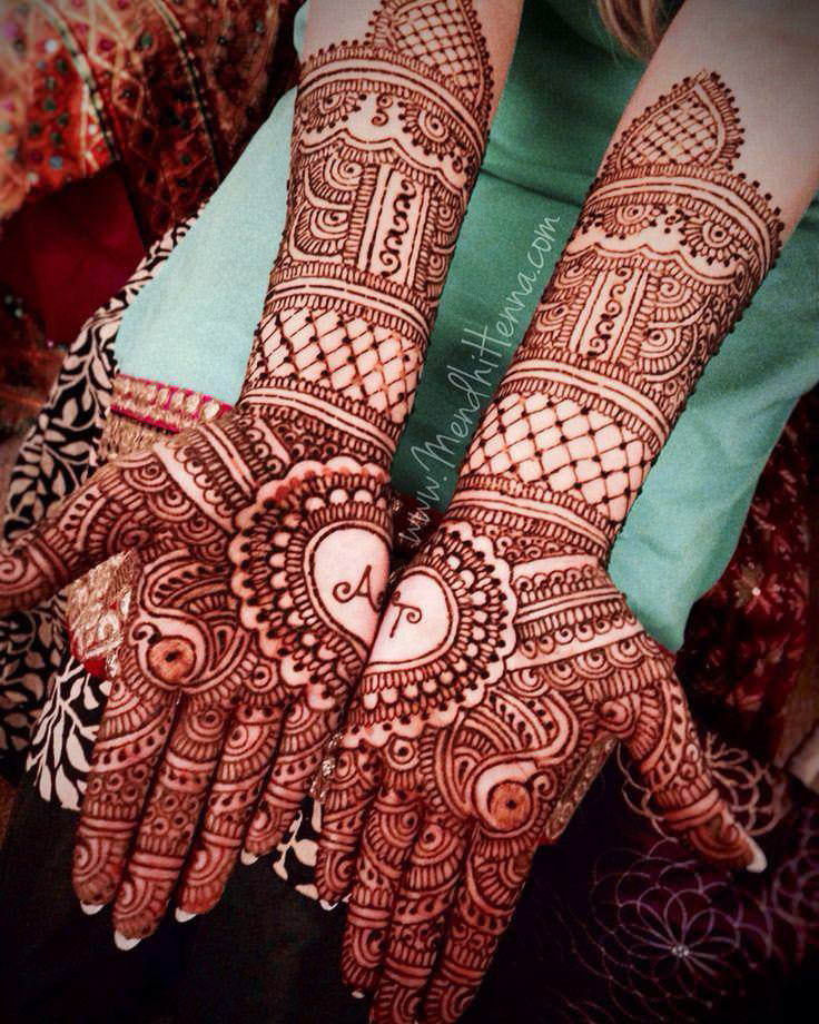 Henna or Mehndi applied on hands