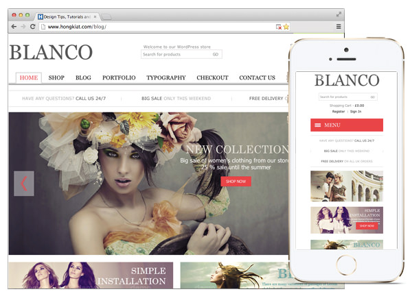 30 Beautiful & Responsive WordPress E-Commerce Themes - Hongkiat