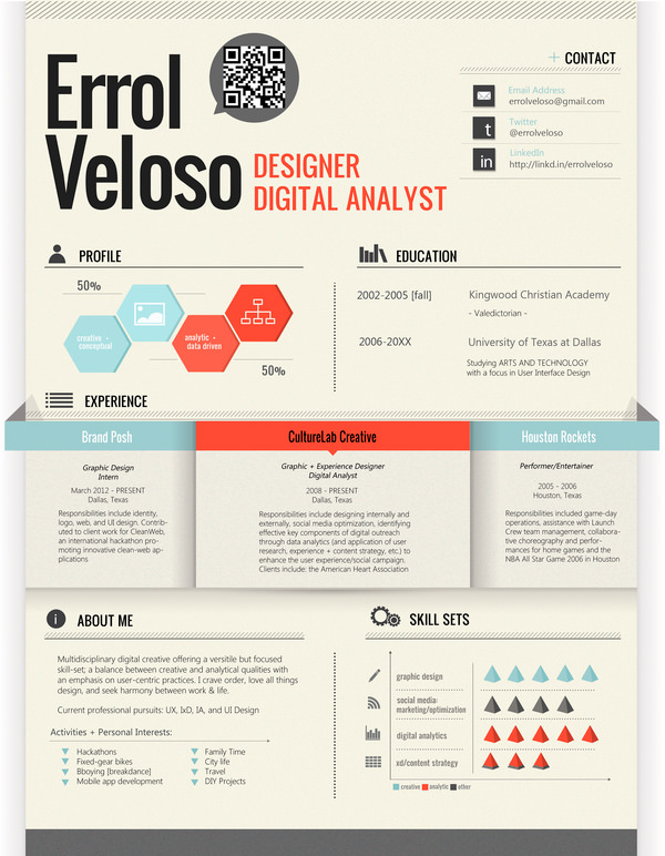 50 awesome resume designs that will bag the job hongkiat - Graphic Design Resume Template