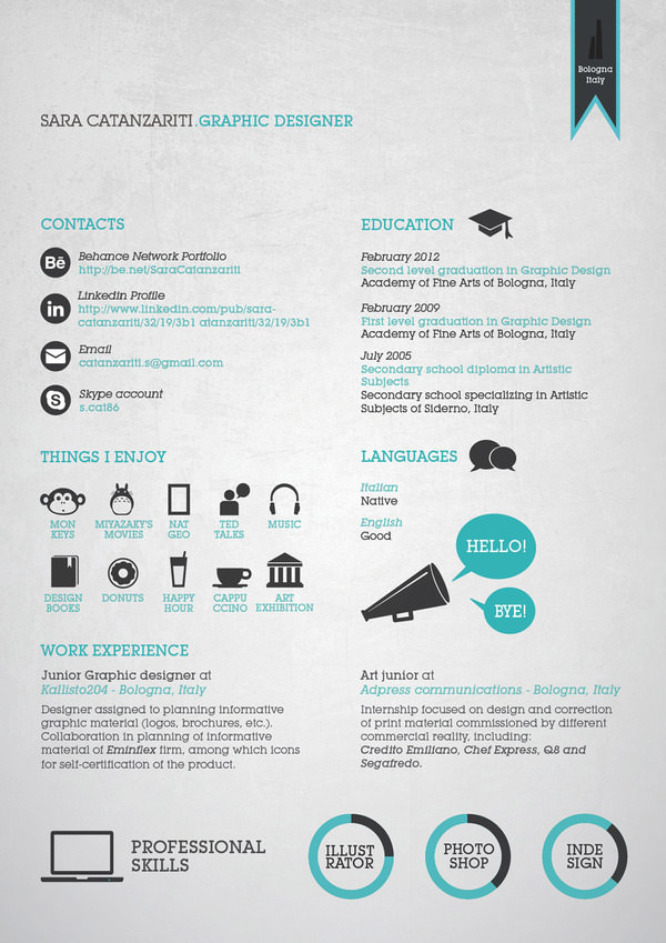Resume Design Inspiration Amusing 50 Awesome Resume Designs That Will Bag The Job  Hongkiat