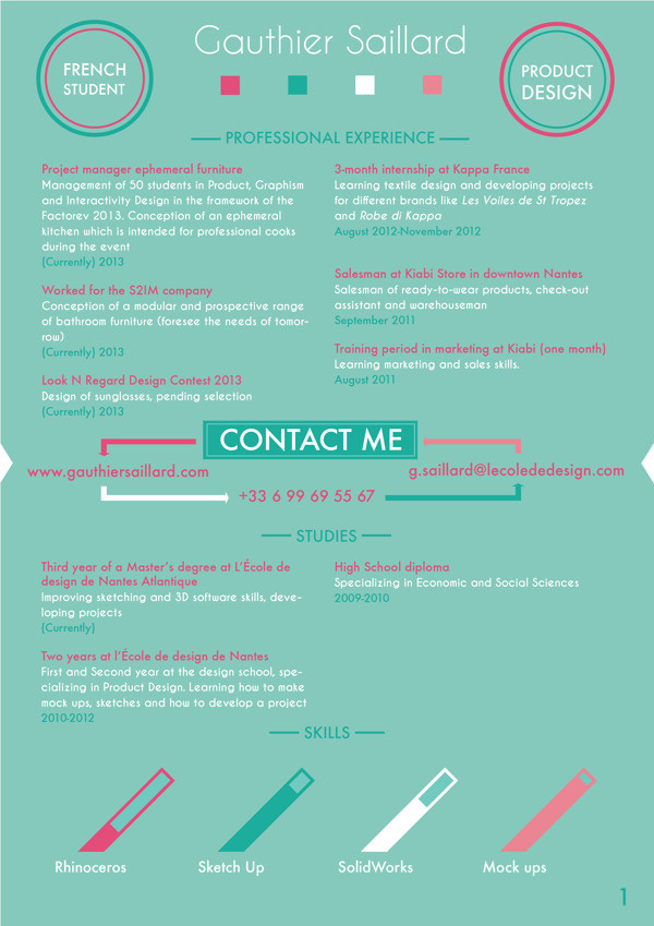 Hongkiat  Sample Resume Designs