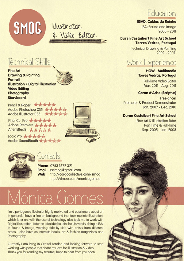 Best Creative Resumes Cool 50 Awesome Resume Designs That Will Bag The Job  Hongkiat