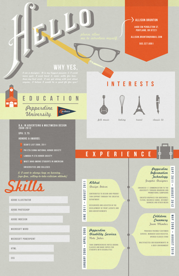 50 awesome resume designs that will bag the job hongkiat - Creative Resumes
