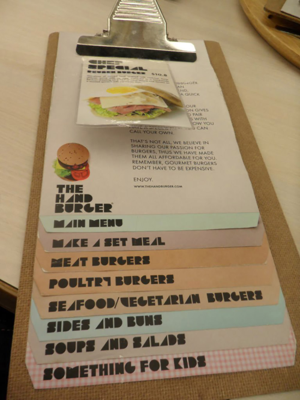 The Hand Burger by Blogspot