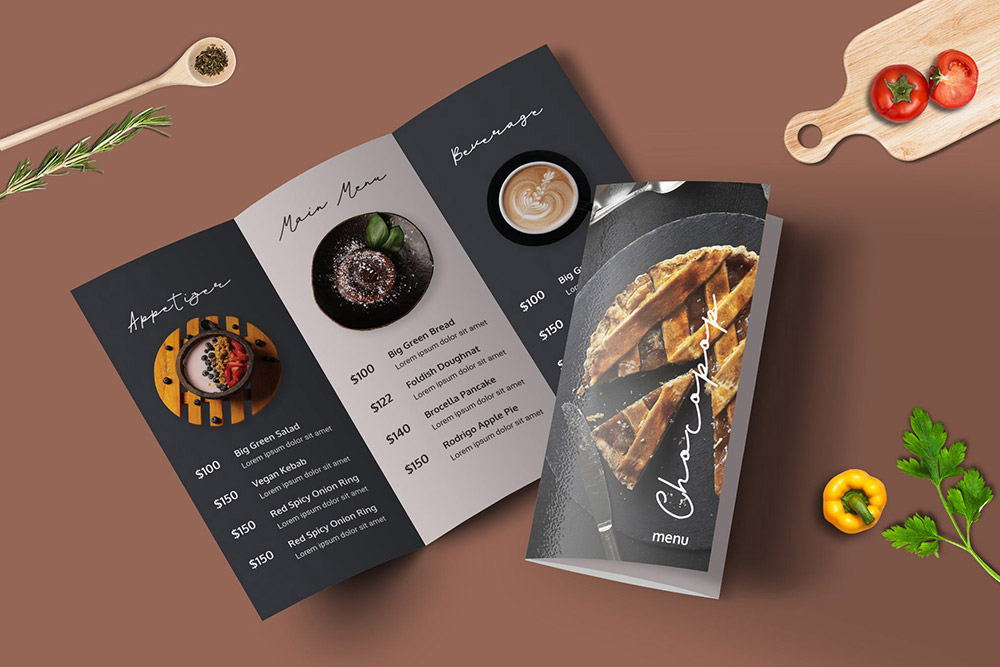 Trifold Restaurant Menu Template by Envato