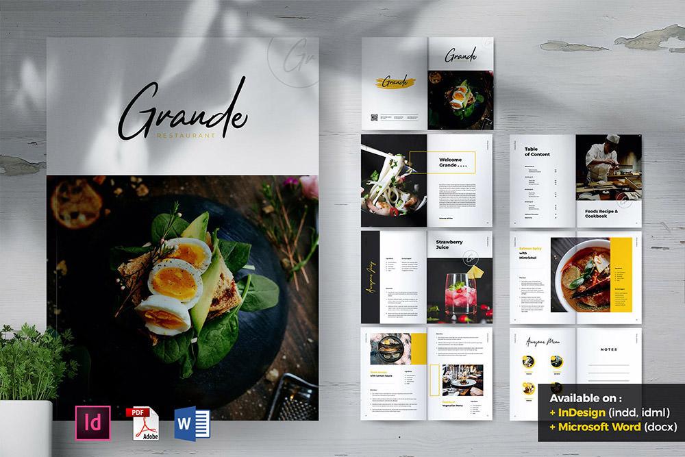 Брошюра Grande Restaurant & Food от Envato