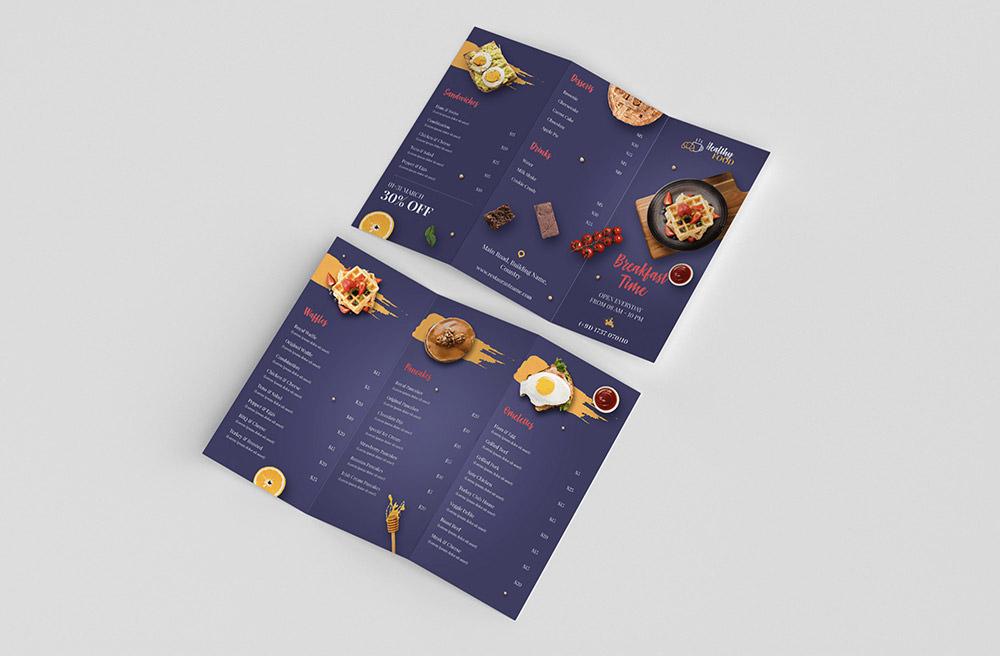 Food Menu Trifold Brochure by Rayhan Mahmud