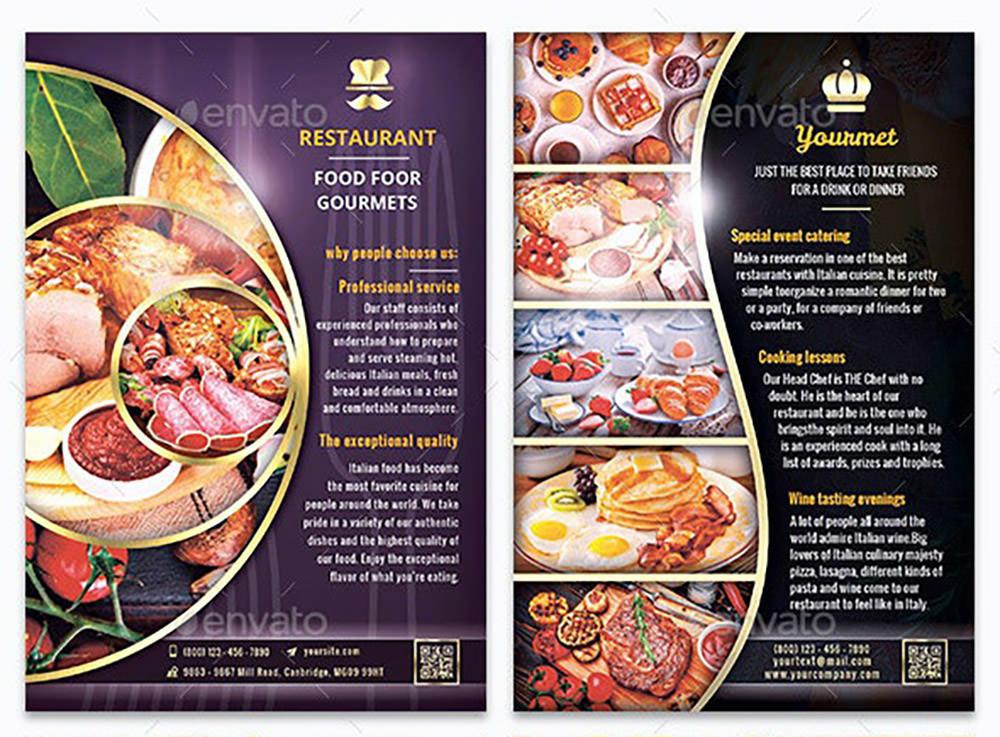 10 Restaurant Flyer Bundle by Yoopiart